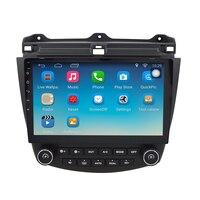 Android 6 1 1 GPS Navigation 10 1 Inch For Honda Accord 7 2003 2007 Car