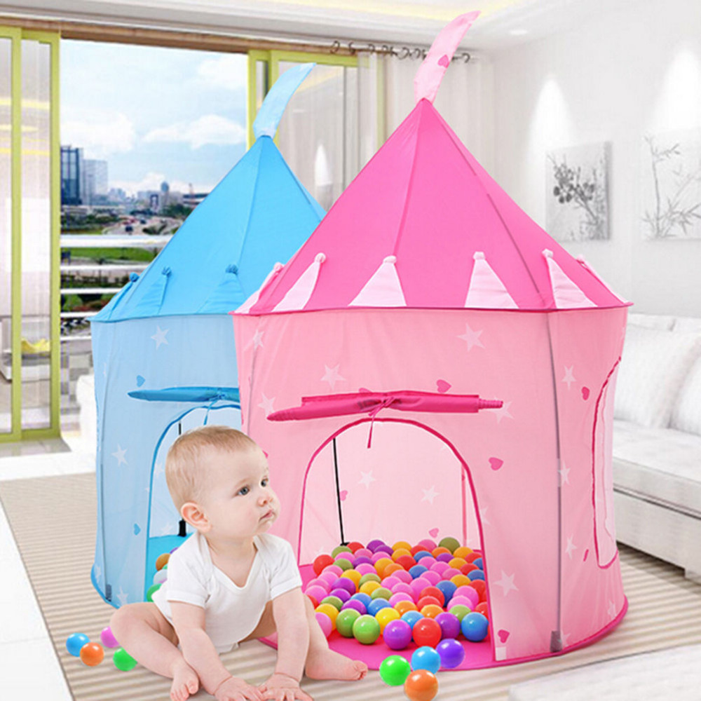 JIMMY BEAR House Play Tent Kids Girl Princess Castle Outdoor House Tent Portable Children Gifts