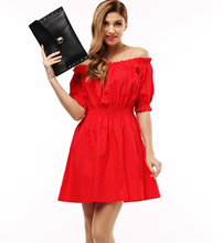 100% cotton New 2017 Autumn summer Women Dress short Sleeve Casual plus size Dresses Vestidos WC0380