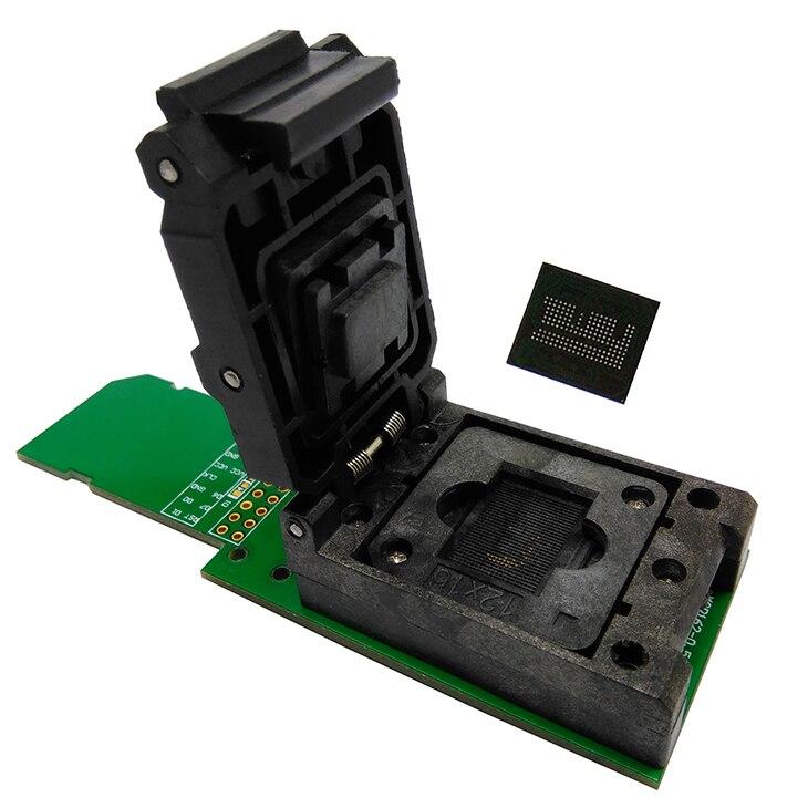 EMCP162/186 lecteur testeur à clapet prise BGA162/186 programeur de récupération de données pour kit de bricolage électronique emmc outils de réparation de téléphone - 2