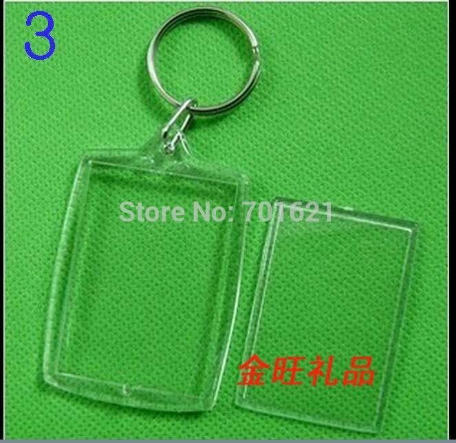 Wholesale DIY Acrylic Blank Photo Keychains Shaped Clear Key Chains Insert Photo Plastic Keyrings DHL Free