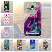 Coque For Lenovo Vibe C2 Case Fashion Pattern Case Transparent Silicone Cover For Lenovo C2 Power k10a40 Soft Silicone Case