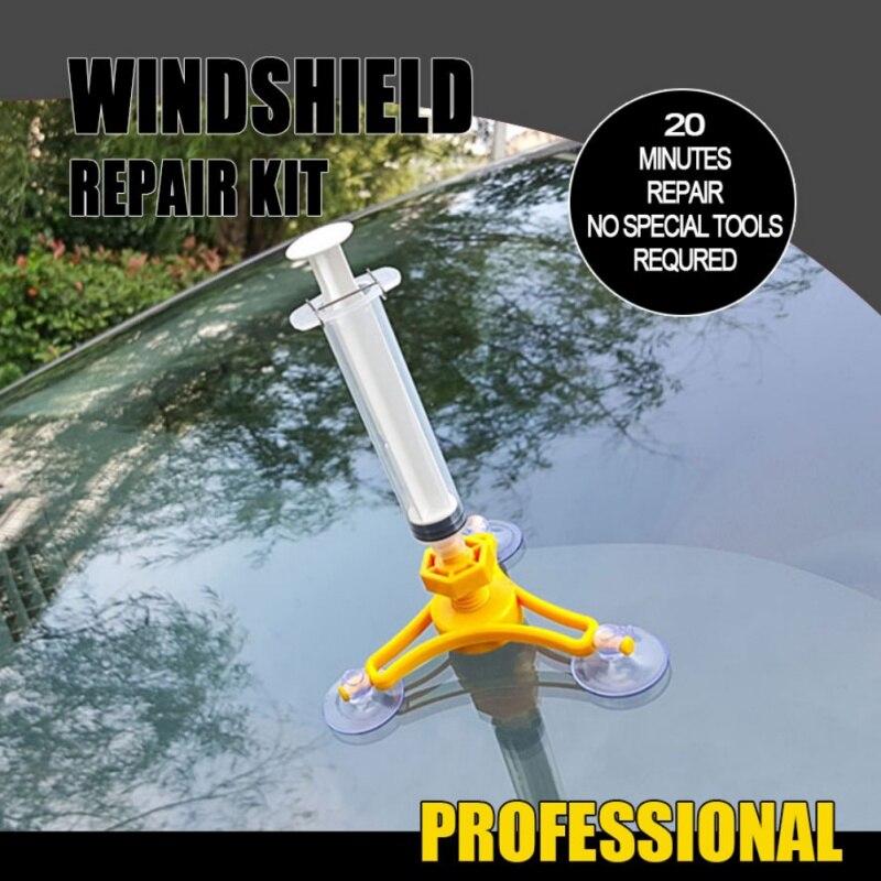 DIY Car Tools Car Glass Repair Tool Auto Glass Windshield Windscreen Instrument Repair Kits DIY Glass Repair Tool Sets