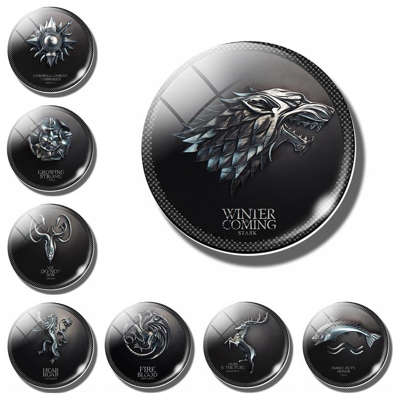 1p game of thrones 30 mm fridge magnet house of stark for Game of thrones garden ornaments