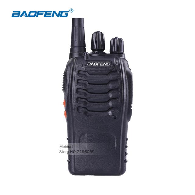 2 vías de radio baofeng bf-888s uhf walkie talkies recargable portable de mano radio de dos vías transceptor de radio cb de radio comunicador