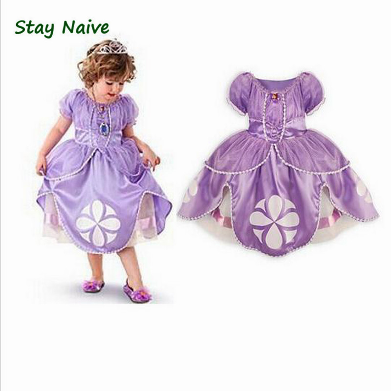 New 2017 dress sofia princess Fluffy dress big petals princess Sophia Free shopping