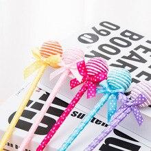 50pcs/set Factory Direct Korea Creative Stationery Cute Bow Pen Student Gift Lollipop Ballpoint