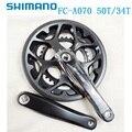 Shimano Tourney FC A070 2 диска 7 8 скоростей Передняя цепь колеса 50T 34T цепь 165 мм квадратное отверстие кривошипно-дорожный велосипед складной велосипед - фото