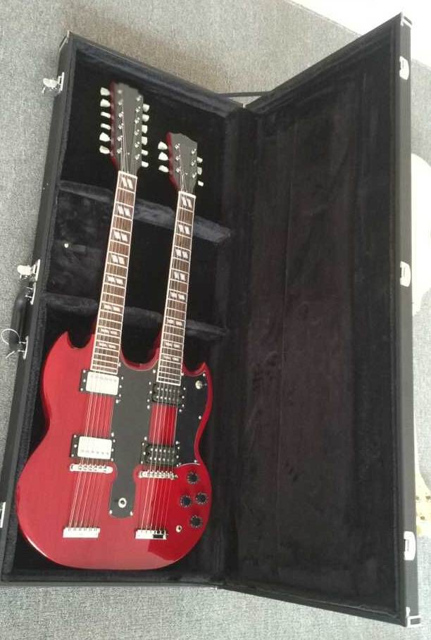 Wholesale New Cibson 1275 Double Necks Electric Guitar In Red Top Quality Price Not Include The Hardcase 150520 стоимость