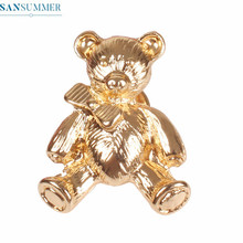 Trendy Animal Brooches Women Funny Charming Cute Bear Badge Brooch Jewelry Pins Accessories womens