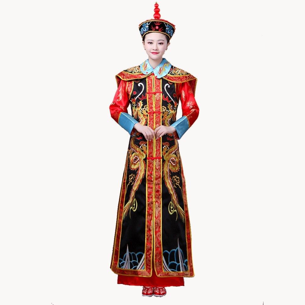 Reine impératrice robe jeu de Costume de la dynastie Qing pour les femmes adultes chinois vêtements traditionnels agir Costume livraison directe