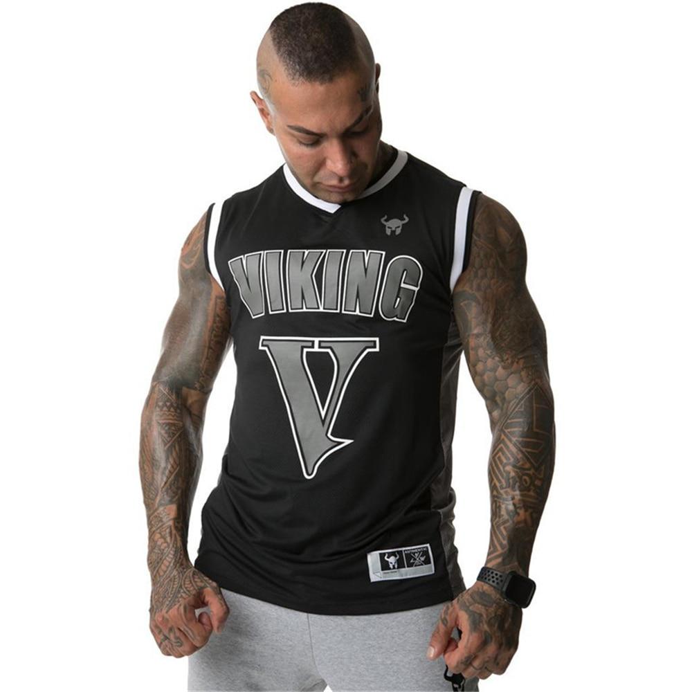 2019 летняя сетчатая одежда Для мужчин s Топы брус, бодибилдинг Фитнес впитывающие пот Для мужчин Танки одежда фуфайка