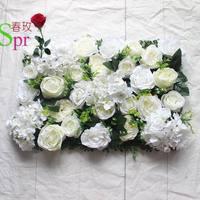 SPR Free Shipping 10pcs/lot Artificial rose & peony &hydrangea flower wall wedding backdrop artificial flower plastic panel wall