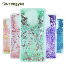 For Huawei Honor 6A case Dynamic Quicksand Liquid Bling Glitter Silicone cover Coque Phone