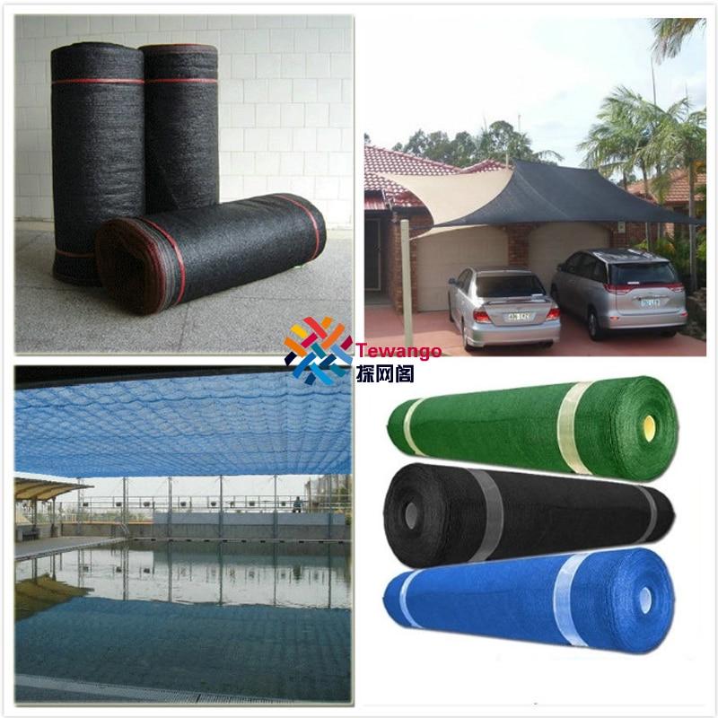 Tewango verde azul negro malla cortina bloqueadora solar paño 80% 90% UV jardín y planta invernadero panel de sombras 2x5m