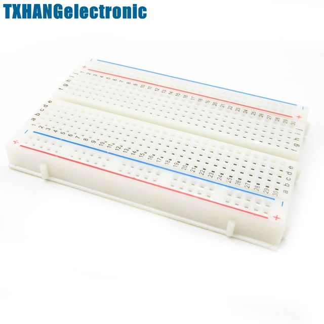 1pcs  Mini Solderless Breadboard Bread Board 400 Contacts Available Test Develop DIY