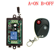 DC 9V 12V 24V 1 CH 1CH RF Wireless Remote Control Switch System,315/433 MHZ Transmitter + Receivers,Latched (A=ON B=OFF)