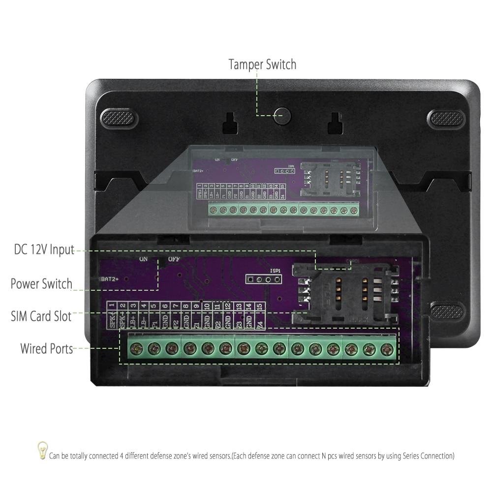 Купить с кэшбэком HOMSECUR YA09 (Espanol/Deutsch/Francais/English Voice) Home Security Wireless GSM Autodial Burglar Intruder Alarm System YA09