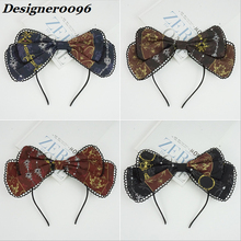 Lolita headdress Original headband Japanese cute princess bow double lace hair band dress accessories