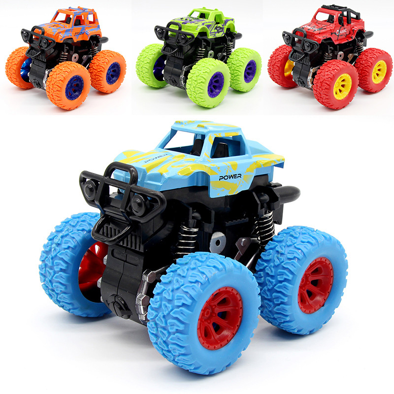 Clockwork Toys Simulation Vehicle Model Car Classic Toys Mini Inertial Off-Road Vehicle Four-Wheel-Drive Children Toy Car Gifts