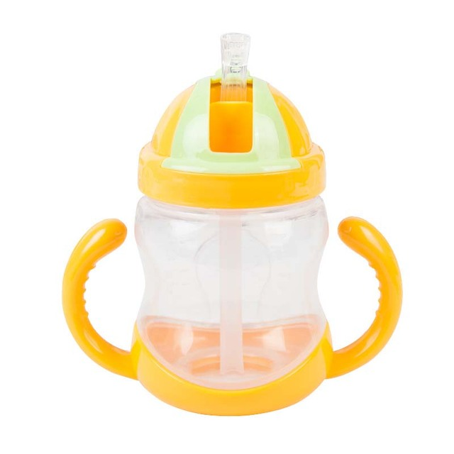 Cartoon Mini Baby Feeding Bottle with Straw