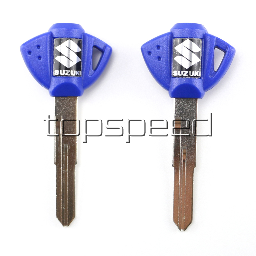 US $4 35 5% OFF|2 PCS Blue Blank Key Uncut For Suzuki GSX GSXR  400/600/750/1000/1300 BANDIT HUYABUSA Motorcycle-in Motorbike Ingition from  Automobiles