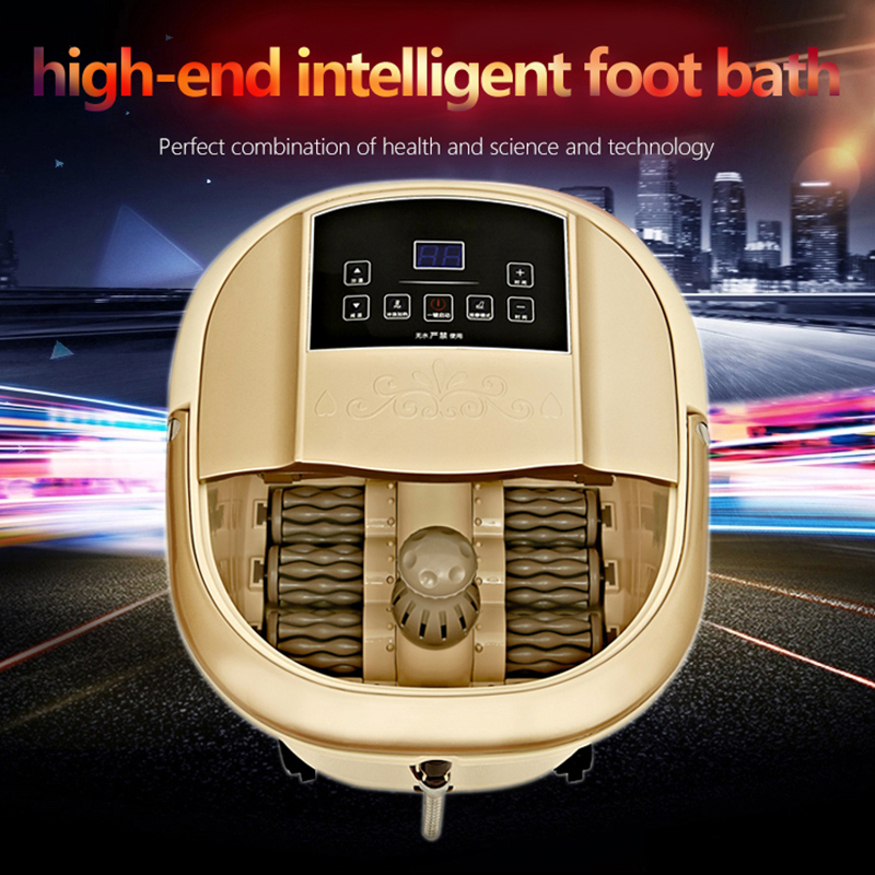 Massage Relaxation 3D SPA Foot Massager Electric vibrator Roller foot temperature surfing heating feet care shiatsu smassagem 2016 new present luxury full feet massager electric shiatsu foot massage machine foot care device for sale free shipping