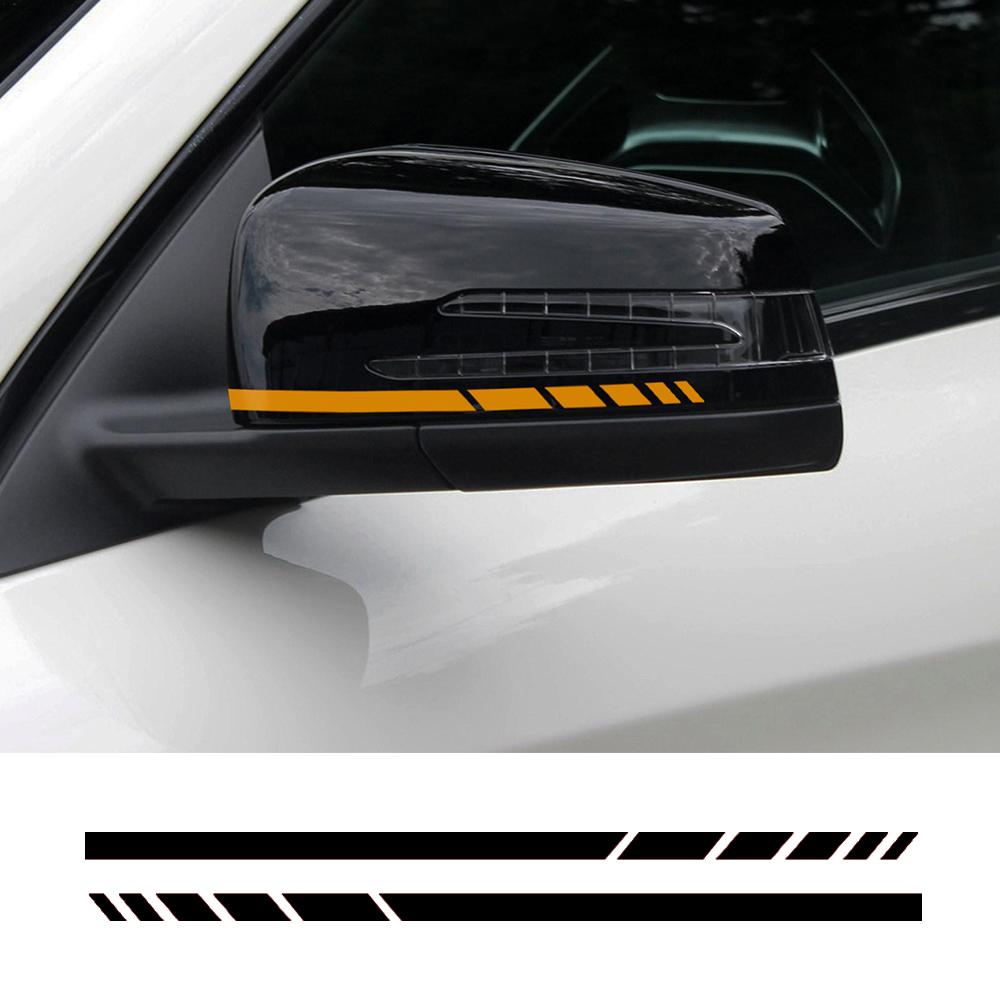 A Pair 8.8 Side Rear View Mirror Stripes Vinyl Decal Car Sticker for Mercedes Benz W204 W212 W117 W176 Edition 1 AMG Style car styling auto amg sport performance edition side stripe skirt sticker for mercedes benz g63 w463 g65 vinyl decals accessories