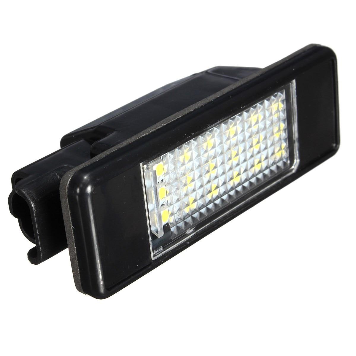 Us 814 14 Off2 X Led Smd światło Tablicy Rejestracyjnej Dla Peugeot 106 207 307 308 406 407 508 Biały W Zest Mont świateł Samochodowych Od