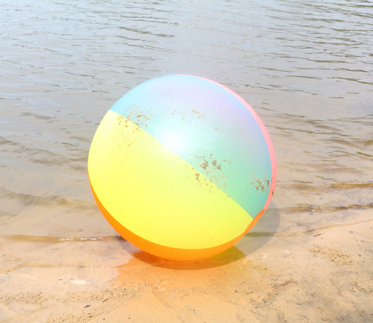 80cm Kids Summer Toy Balls Super Rainbow Beach Ball Colorful Inflatable Ball Toy Outdoor Sports Toy Game Ball Children Gift