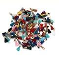 100 шт./лот Смешанные Цвета 16 мм Длинный Шелковый Хлопок Кистями Шнур Прелести Подвески для Ожерелья и Серьги DIY Ювелирных Материалов F3516