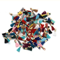 100pcs/lot Mixed Colors 16mm Long Silk Cotton Tassels Cord Charms Pendants for Necklaces & Earrings DIY Jewelry Materials F3516