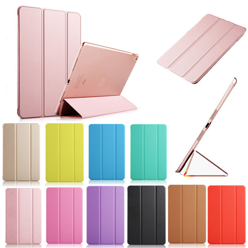 For New iPad 2017 Pro 10.5 inch Case Ultra Slim Smart Case 3 Folding Stand Auto Sleep/Wake Back Cover For Apple iPad Pro 12.9