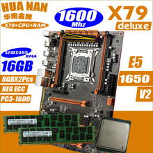 HUANANZHI Deluxe X79 CPU RAM combos processor Xeon E5 1650 v2 {2 x 8G}DDR3 Memory all tested(China)