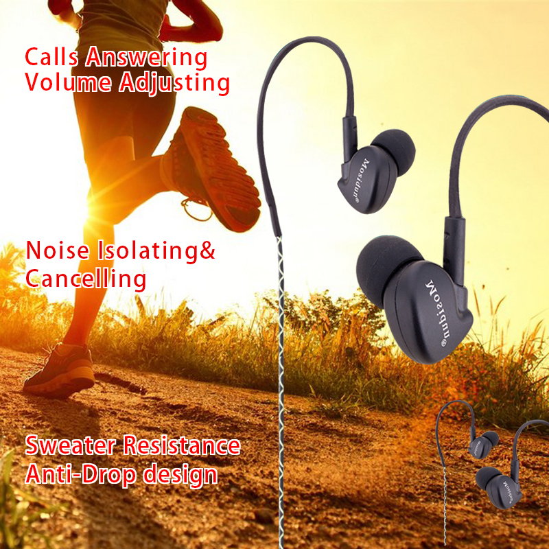 Universal Earphone 3.5mm Earbuds Sport Earphones Super Bass Hifi Stereo For iPhone4 5 6 Samsung Xiaomi Lenovo Tablet MP3 4 More