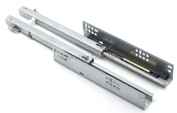 Livraison gratuite humide silencieux diapositives meubles matériel rail ordinateur bureau diapositive clavier armoire tiroir piste levage support inférieur