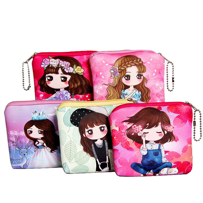 Billtera brand girls PU purse thicken high-quality leather printing cartoon children girl big capacity coin case card wallet bag factory direct wallet cartoon rabbit high quality plush coin purse activity promotional gifts for children girls