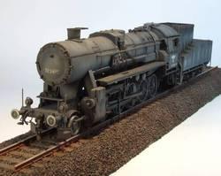 1/72 немецкая модель парового локомотива BR 52 82901