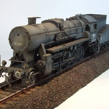1/72 German BR 52 Steam Locomotive Model 82901