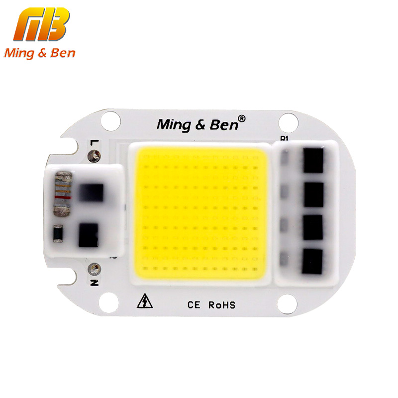 [MingBen] LED COB מנורת שבב 20 w 30 w 50 w AC 110 v 220 v 230 v חכם IC DIY LED הארה זרקור יום לבן קר לבן חם לבן
