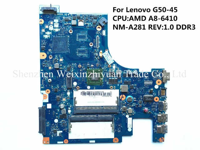 Para lenovo g50-45 motherboard a8-6410 nm-a281 rev: 1.0 ddr3 100% probado