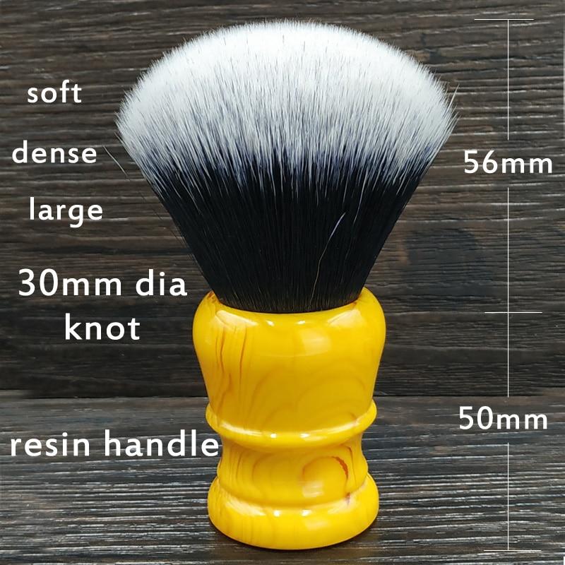 Image 2 - Dscosmetic 30mm grande smoking nó sintético cabelo escova de barbear resina punho feito à mãoPincel de barba   -