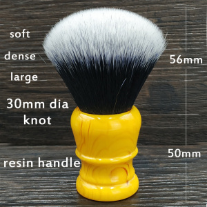 Image 2 - dscosmetic 30mm big Tuxedo Knot synthetic hair shaving brush resin handle by hand made