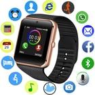 <+>  Bluetooth Смарт Часы Мужчины Спортивные Часы Шагомер LED Цвет Сенсорный Экран Поддержка SIM Камеры S ★