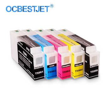 5Colors/Set T5961-T5964 T5968 Compatible Ink Cartridge Filled With Pigment Ink For Epson Stylus Pro 7700 9700 Printer 350ML/PC