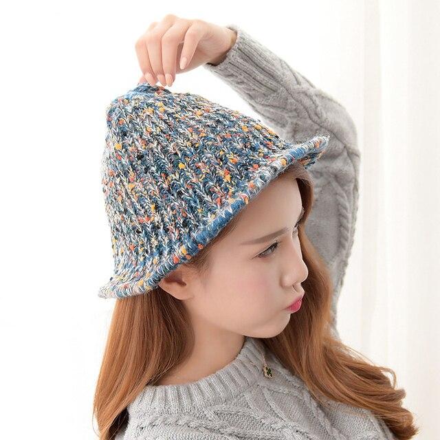 New 2016 Knit Fashion Casual Women Winter Hat Autumn Beanie Warm Skullies Casual Cap Winter Hats for Madam Outdoor Sports