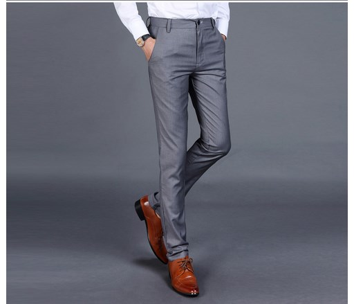2019 Fashion Tailored Made Mens Slim Fit Suit Pants High Quality Men Casual Trousers Business Formal Male Pants