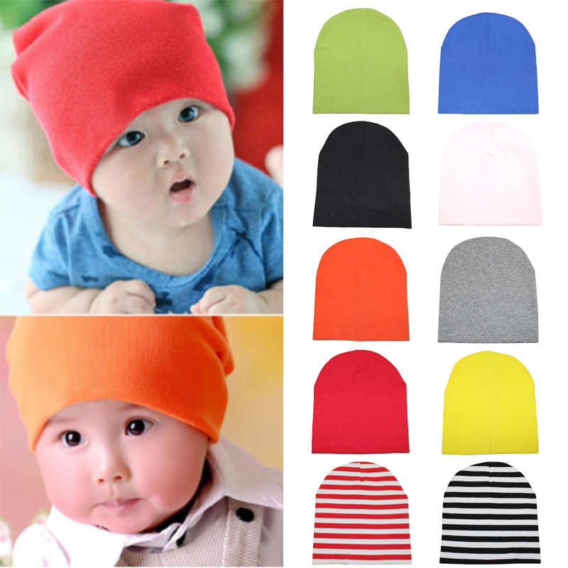 8427e3323 Multicolor Crochet Baby Hat Cotton Winter Knitted Warm Soft Cute Beanie  Baby Hats Cotton Baby Caps Boy Girl Hat Accessories
