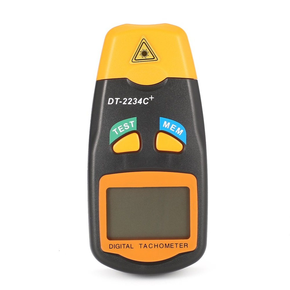 все цены на DT2234C+ Handheld LCD Digital Mini Non-contact Laser Photo Tachometer RPM Speed Measurement Meter Speedometer 2.5~99999RPM