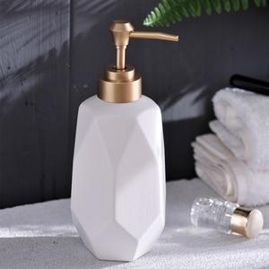 Image 2 - 1pc Nordic Creative Hand Sanitizer Bottle Ceramic Lotion Bottle Soap Dispenser Hotel Clubhouse Bathroom supplies